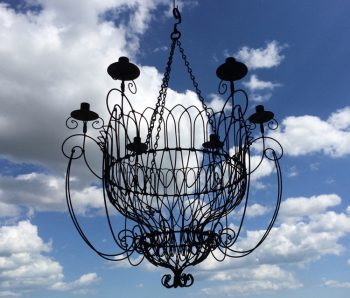 Abbey chandelier blue sky 2017