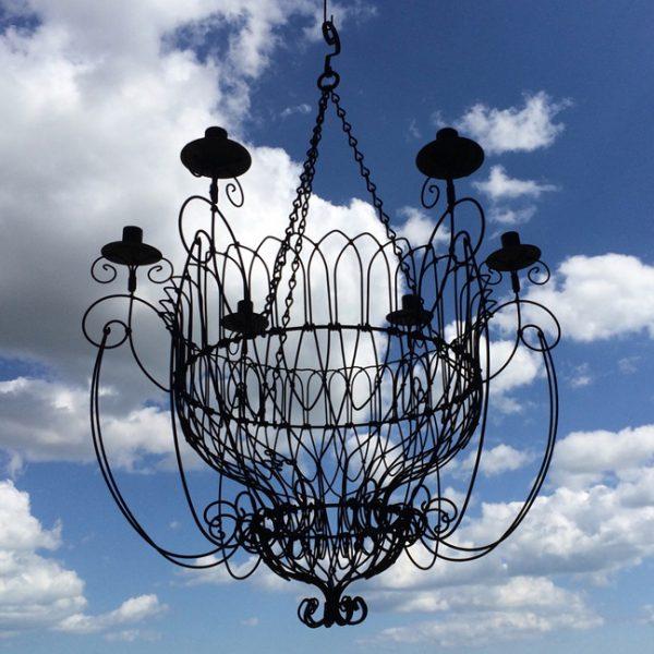 Abbey chandelier blue sky 2017
