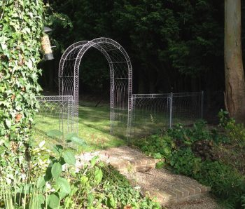 Round top arch and Trellis