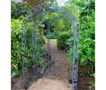 Flowered Arch Walkway